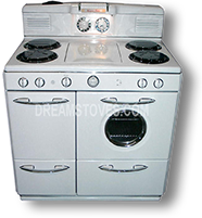 1949 Western-Holly Antique Gas Stove in White