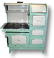 1923 Wedgewood Double Oven Antique 'Estate Stove' in Mint and Almond Porcelain Available from DreamStoves.com