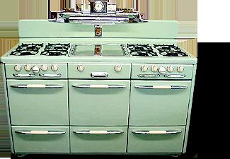1954 O Keefe Merritt Aristocrat Aka Town Country Vintage Stove Model 5850l In Custom Warm Almond Porcelain