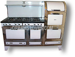 magic chef double oven antique stove in white porcelain with black knobs and - Magic Chef Oven