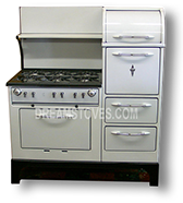 1930s Wedgewood Double Oven Antique 'Estate Stove' in White Porcelain Available from DreamStove.com