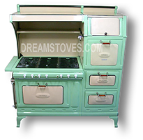 1923 Universal Estate Antique Stove, in Green Available from DreamStoves.com