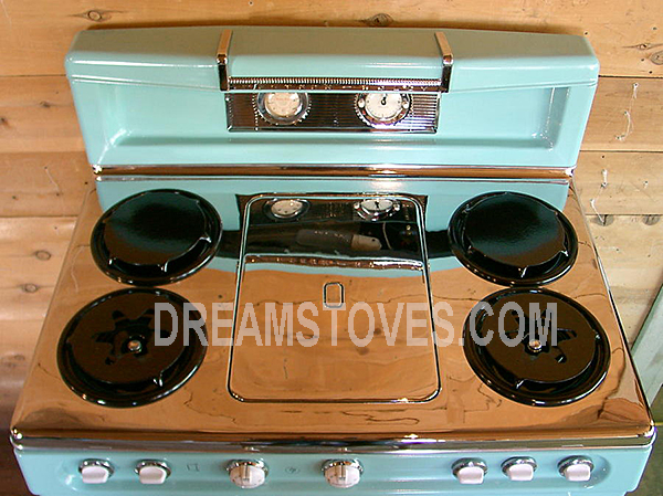1953 37in Western Holly Double Oven In Blue